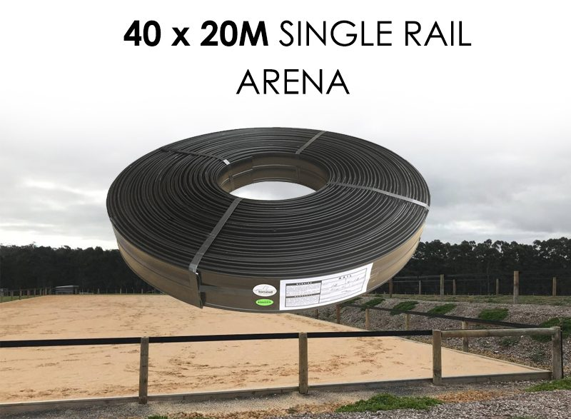 Horserail Single Rail 40 x 20m Arena Package
